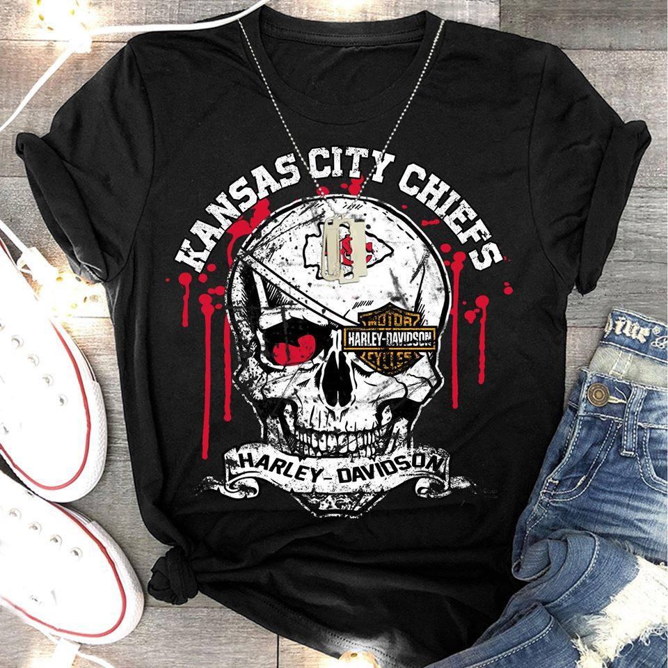 Kansas city chiefs harley-davidson shirt