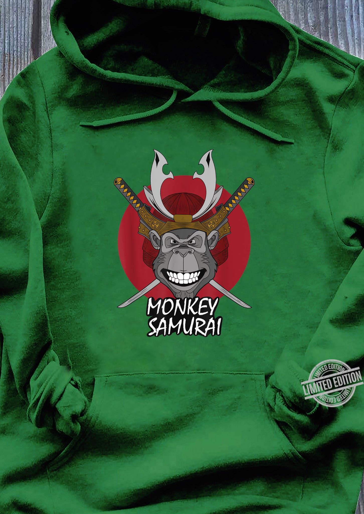 Mens Monkey Samurai Shirt hoodie