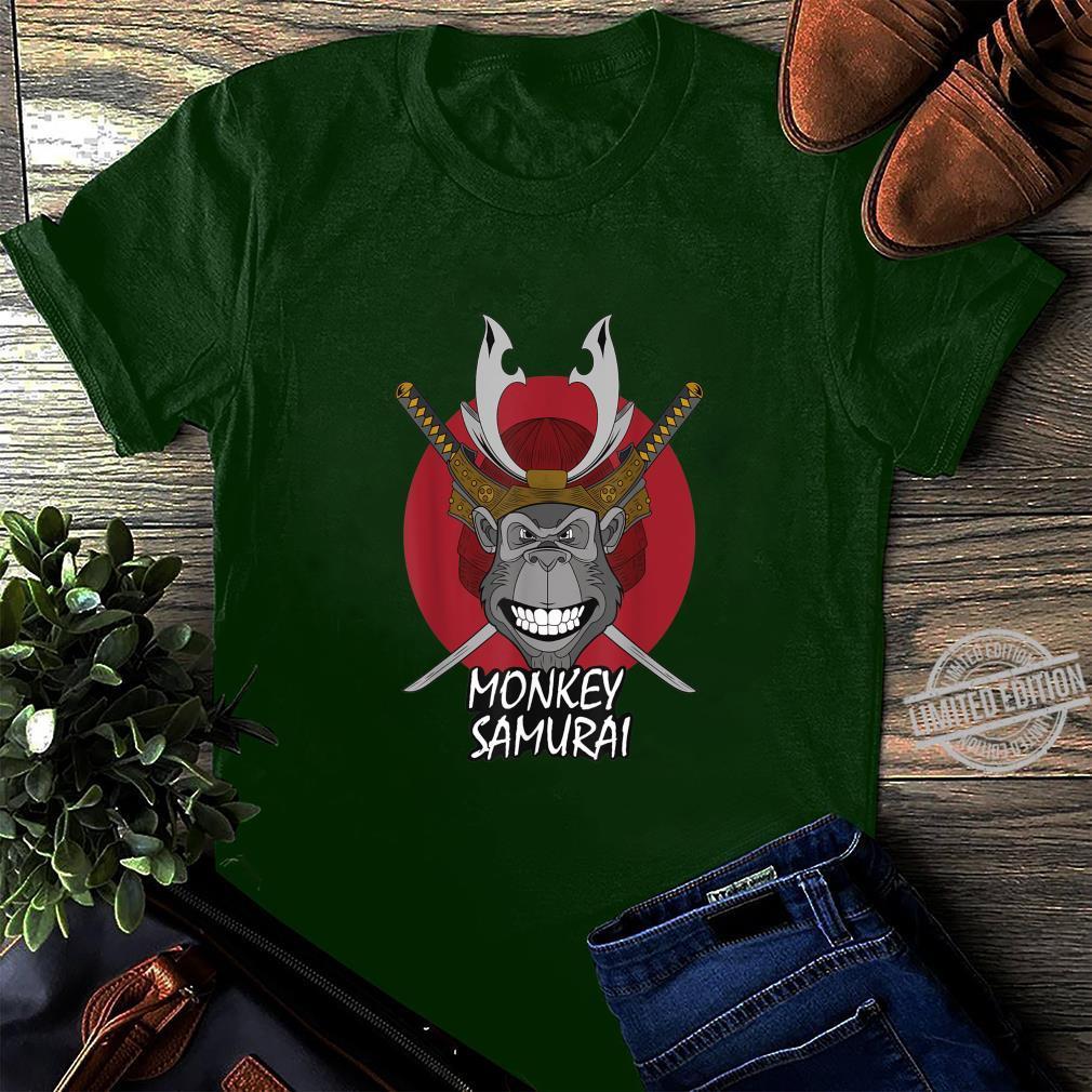 Mens Monkey Samurai Shirt long sleeved
