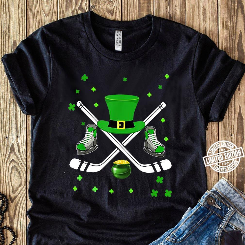 Premium Hockey Hat Leprechaun St Patrick's Day Boys Men Catcher Shirt