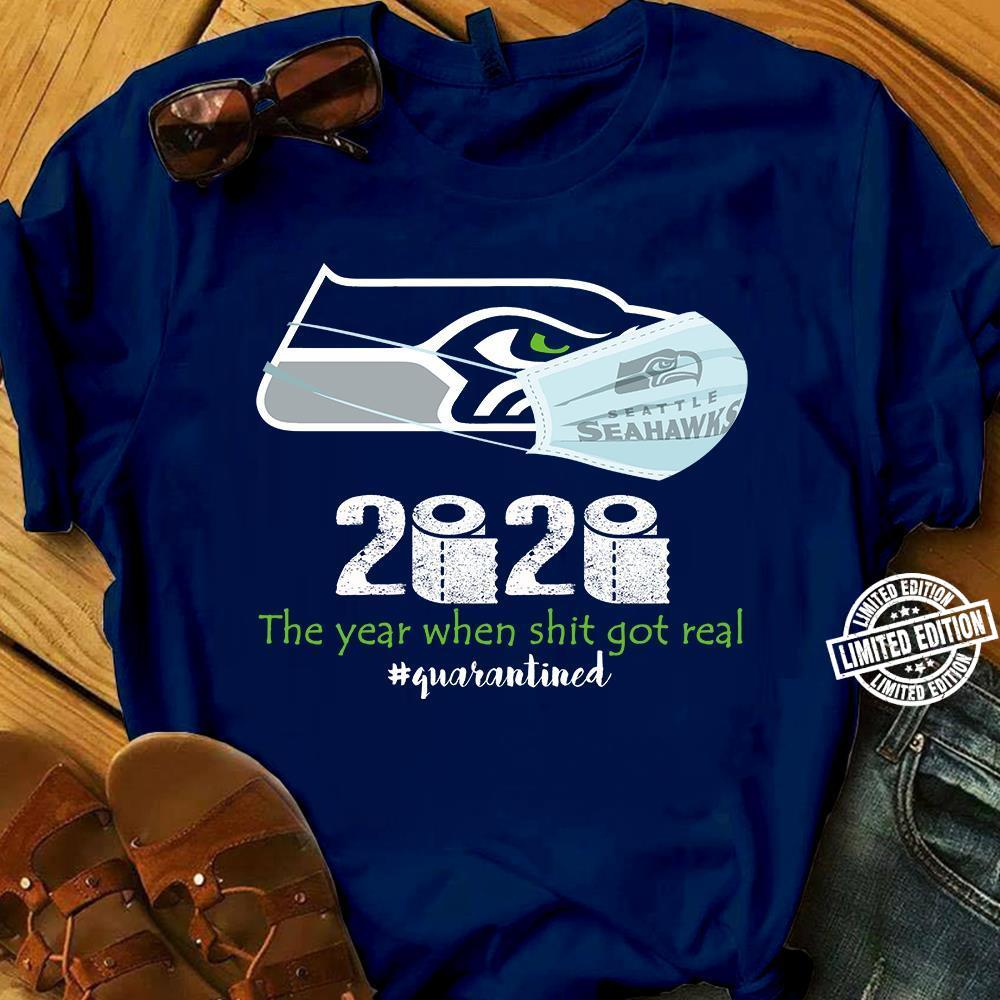 Seattle Seahawks Face Mask 2020 The Year When Shit Got Real Shirt