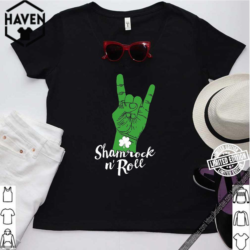 Shamrock N' Roll happy St PATRICK'S DAY shirt