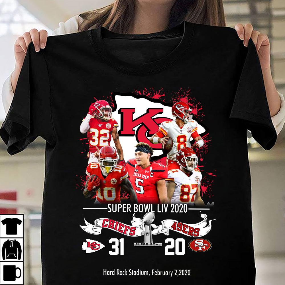 Super bowl liv 2020 chiefs 31 20 SF shirt