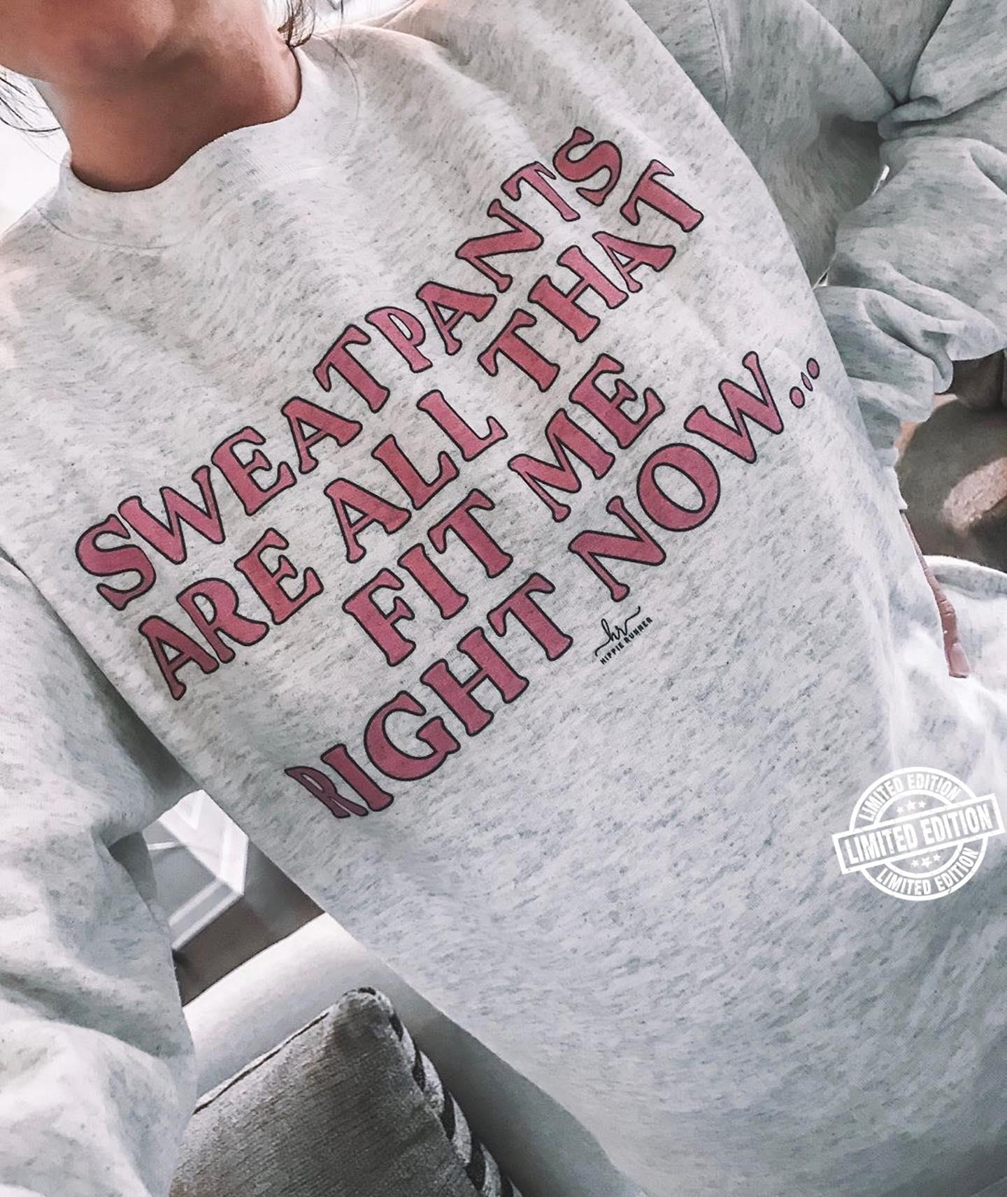 Sweatpants are all that fit me right now shirt