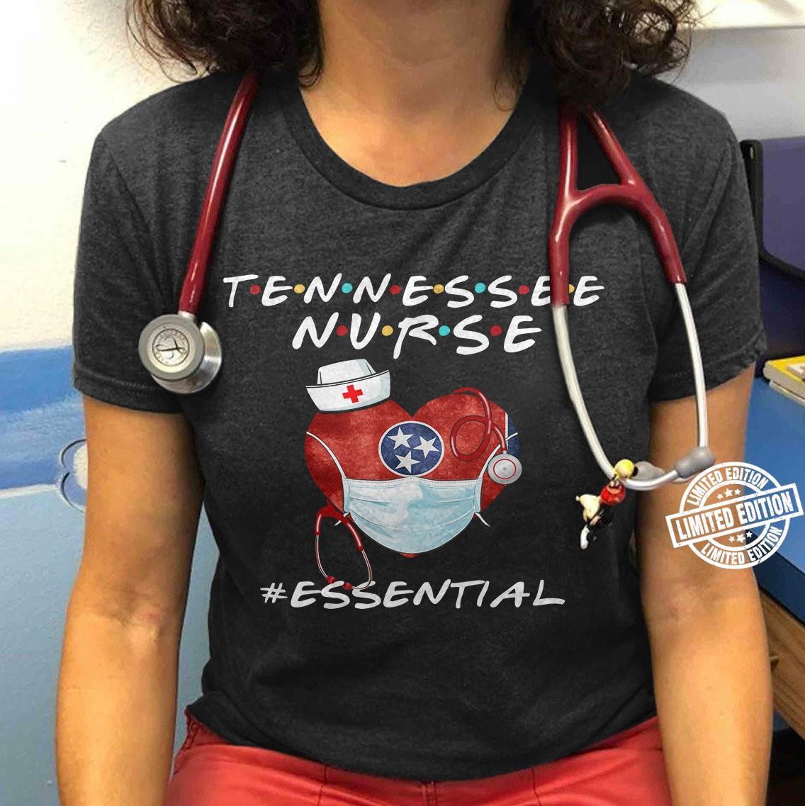 Tennessee nurse essential heart shirt