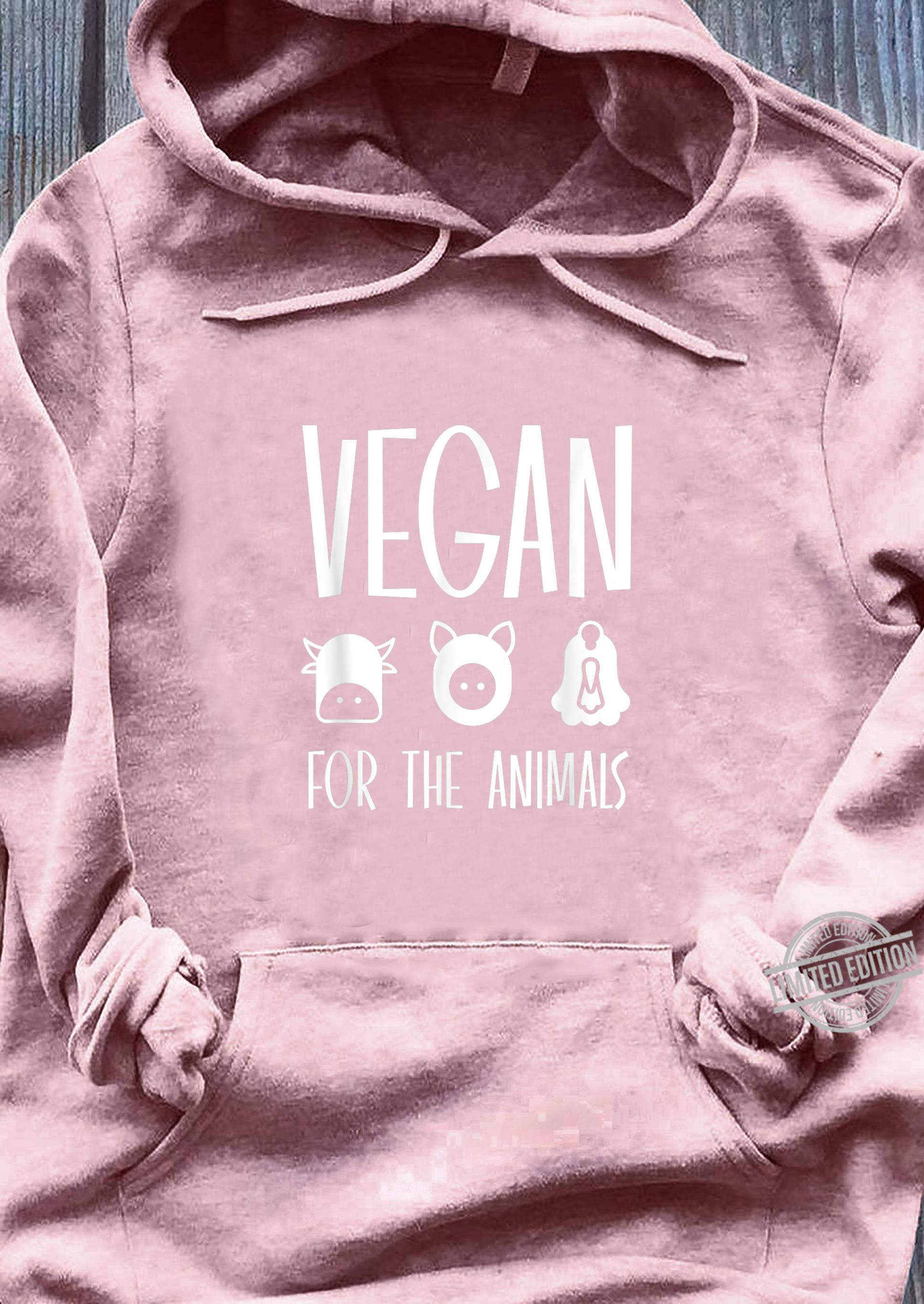 VEGAN FOR THE ANIMALS Shirt sweater