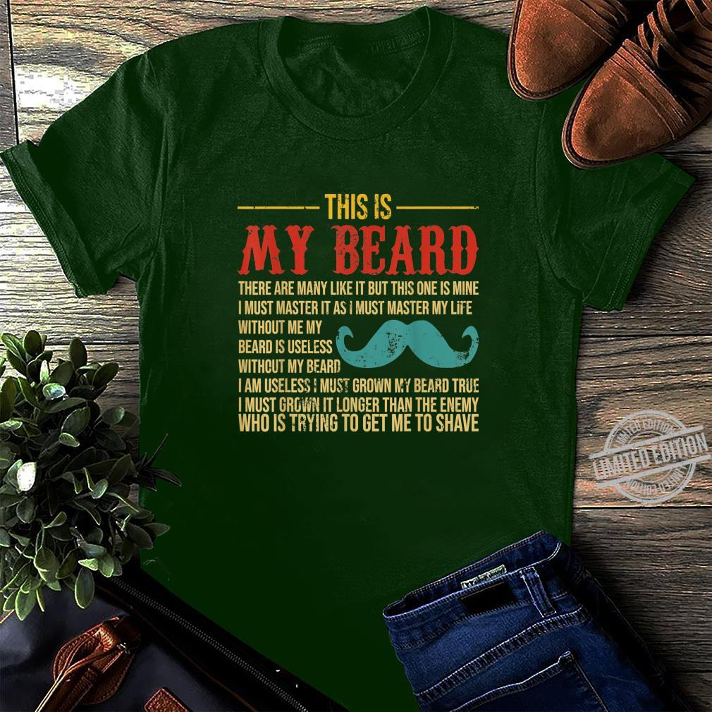 Vintage This Is My Beard Father's Day Shirt long sleeved